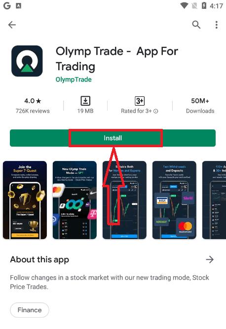 Cara Masuk dan mulai Trading di Olymp Trade